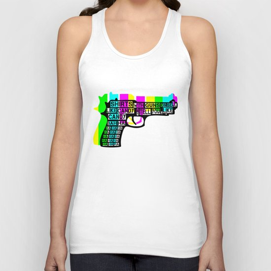 Guns and Candy Unisex Tank Top
