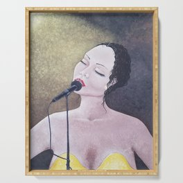 The Moment, Singing Woman Painting, by Faye Serving Tray