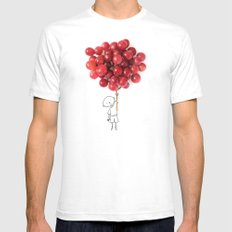 Boy with grapes - NatGeo version White MEDIUM Mens Fitted Tee