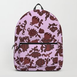 red flowers and foliage 2 / https://society6.com/totalflora/collection Backpack