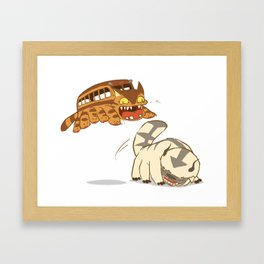 Catbus vs. Appa Framed Art Print