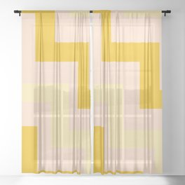 Chevron diagonal 90s Sheer Curtain
