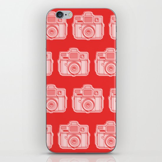 I Still Shoot Film Holga Logo - Reversed Red iPhone & iPod Skin