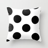 polka dot Throw Pillows featuring Polka Dot by JiaMiin Berglund