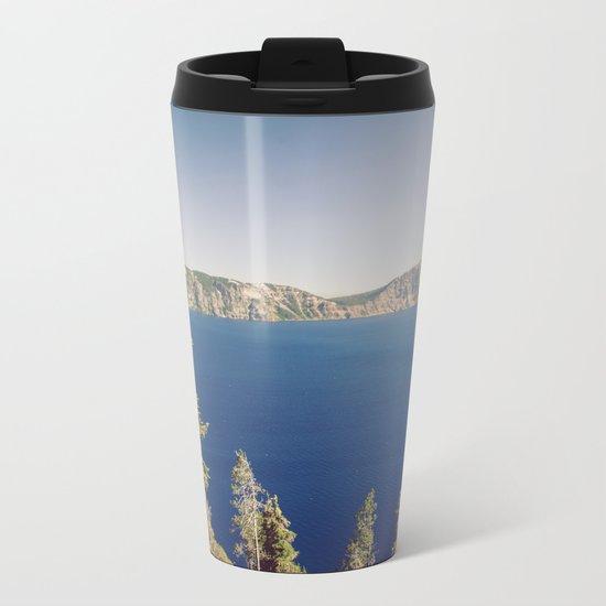 Beautiful Blue Crater Lake Metal Travel Mug