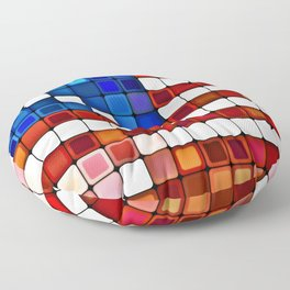 Old Glory Abstract Floor Pillow
