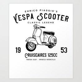 Vintage Piaggio Scooter 1953 125cc T Shirt Original Design Art Print