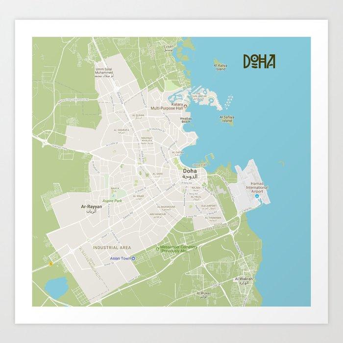 Minimalist Modern Map of Doha, Qatar A Art Print by asarstudios on italy map area, algeria map area, cape verde map area, jamaica map area, bangladesh map area, kuwait map area, lebanon map area, puerto rico map area, palestine map area, egypt map area, rwanda map area, syria map area, middle east map area, iceland map area, haiti map area, japan map area, albania map area, asia map area, cayman islands map area, saudi arabia map area,