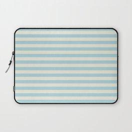 Blue Plume Pale Creme Stripe Laptop Sleeve