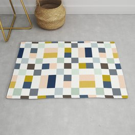 Harionago - Abstract Colorful Pixel Patchwork Rug