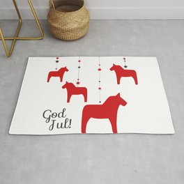 God jul - Dala style Rug