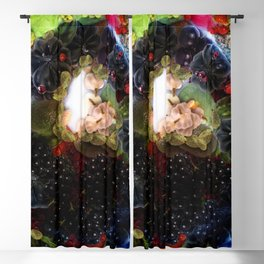 Colorful fruits set painting Blackout Curtain