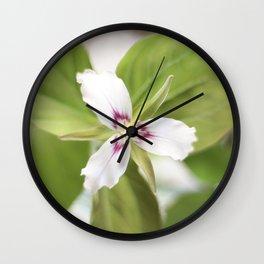 Trillium Flower Wall Clock