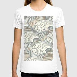 Ocean Waves Pattern Ancient Japan Art T-shirt
