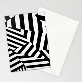 RADAR/ASDIC Black and White Graphic Dazzle Camouflage Stationery Cards