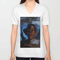 freddy krueger V-neck T-shirts featuring Freddy Krueger - Never Sleep Again by Saint Genesis