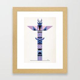 Geometric Totem Framed Art Print