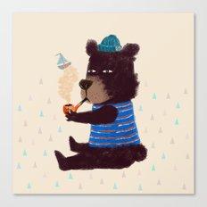 BLACK BEAR SAILOR II Canvas Print