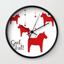 God jul - Dala style Wall Clock
