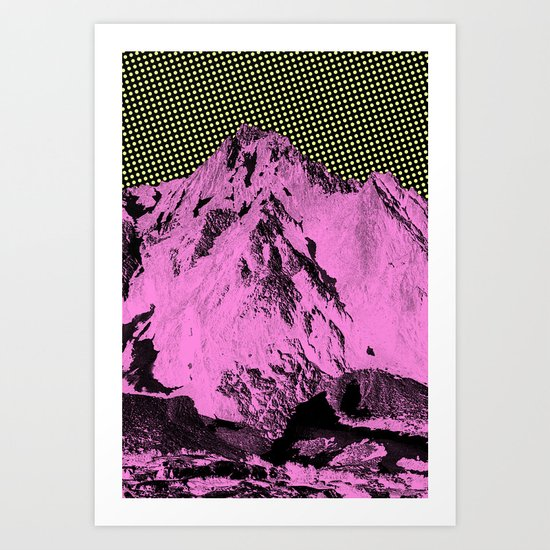 Not a single cloud in the sky Art Print