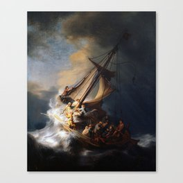 The Storm on the Sea of Galilee-Rembrandt Canvas Print
