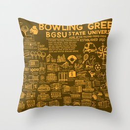 Bowling Green State University Map Throw Pillow