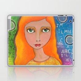Colourful girl Laptop & iPad Skin