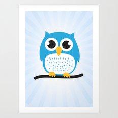 Sweet & cute owl Art Print