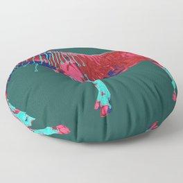 Electric Quagga Floor Pillow