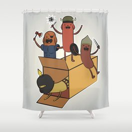 AT - Hog Dog Knights Shower Curtain