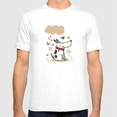 EMOTIONAL DOGGY Mens Fitted Tee White SMALL