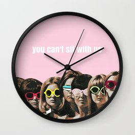 Mean Girl - You Can't Sit With Us Wall Clock