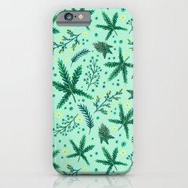 Mint Cannabis Floral iPhone Case