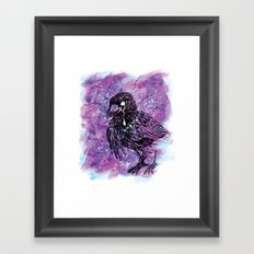 Crying Crow Framed Art Print