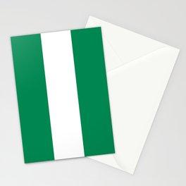 Nigerian Flag of Nigeria Stationery Cards