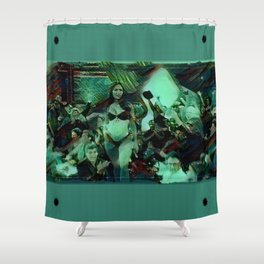 Peep Show Ghouls Shower Curtain