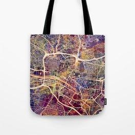 Glasgow City Scotland Street Map Tote Bag
