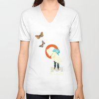 surfer V-neck T-shirts featuring Surfer by Prints der Nederlanden