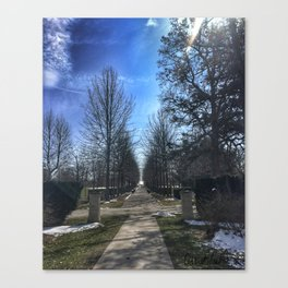 Promenade at Vander Veer Botanical Park Canvas Print