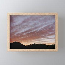 Sunset Over the Mountaintops  Framed Mini Art Print