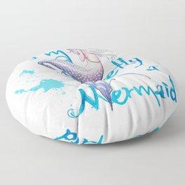 Secretly a Mermaid Floor Pillow
