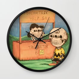 The Doctor Is In Wall Clock