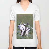 goat V-neck T-shirts featuring Goat by Jessie Prints Stuff
