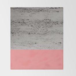 Light Coral on Concrete #2 #decor #art #society6 Throw Blanket