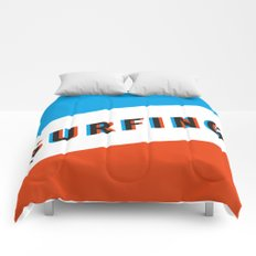 SURFING 3D - Square Comforters