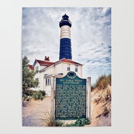 """""""Big Sable Point Lighthouse"""" Poster"""