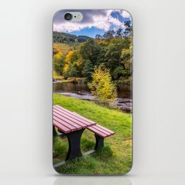 Snowdonia River Autumn iPhone Skin