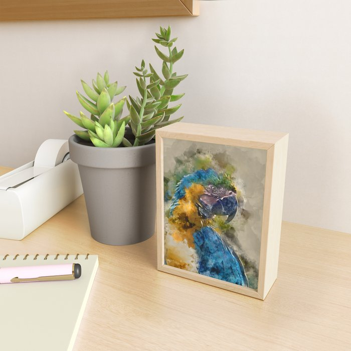 Parrot Colours Framed Mini Art Print