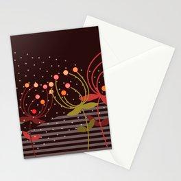 autumn flowers -  Illustration mauve Stationery Cards