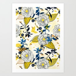 Flowers patten1 Art Print